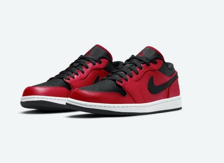 Nike Air Jordan 1 Low - Ярко тёмная расцветка
