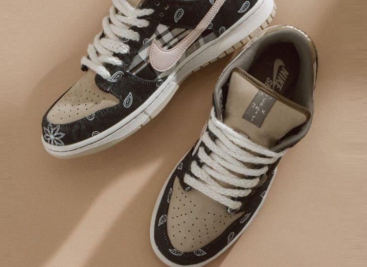 Коллаборация кроссовок Трэвис Скотт x Nike SB Dunk Low